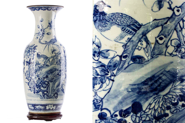 Blue And White Porcelain Vase With Phoenixes And Peonies Works Of